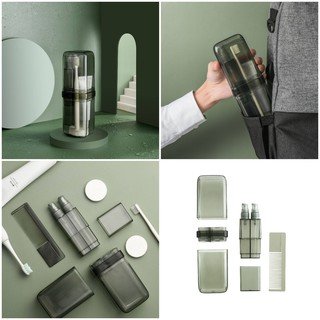 Hộp đồ cá nhân TRAVEL WASH BOTTLE XĐ từ nhựa ABS an toàn, chắc chắn, đựng bàn chải, k.đánh răng, chiết sữa tắm dầu gọi