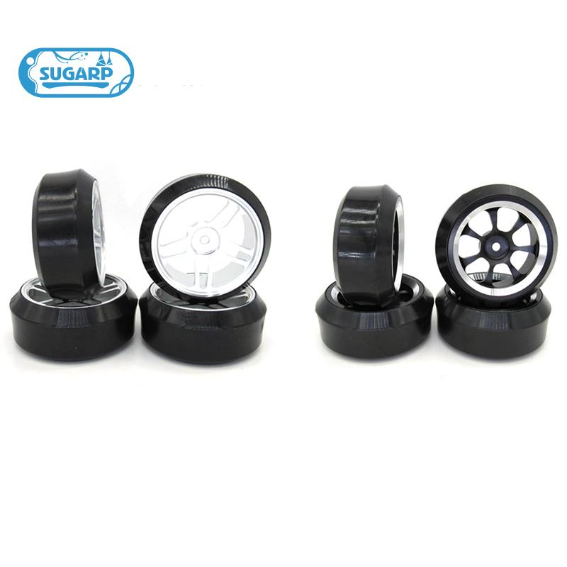 [In Stock][In Stock]Metal Wheel Rim and Hard Pattern Drift Tire Tyre Set for WPL D12 1/10 RC Car Upgrade Parts Accessories,Sier