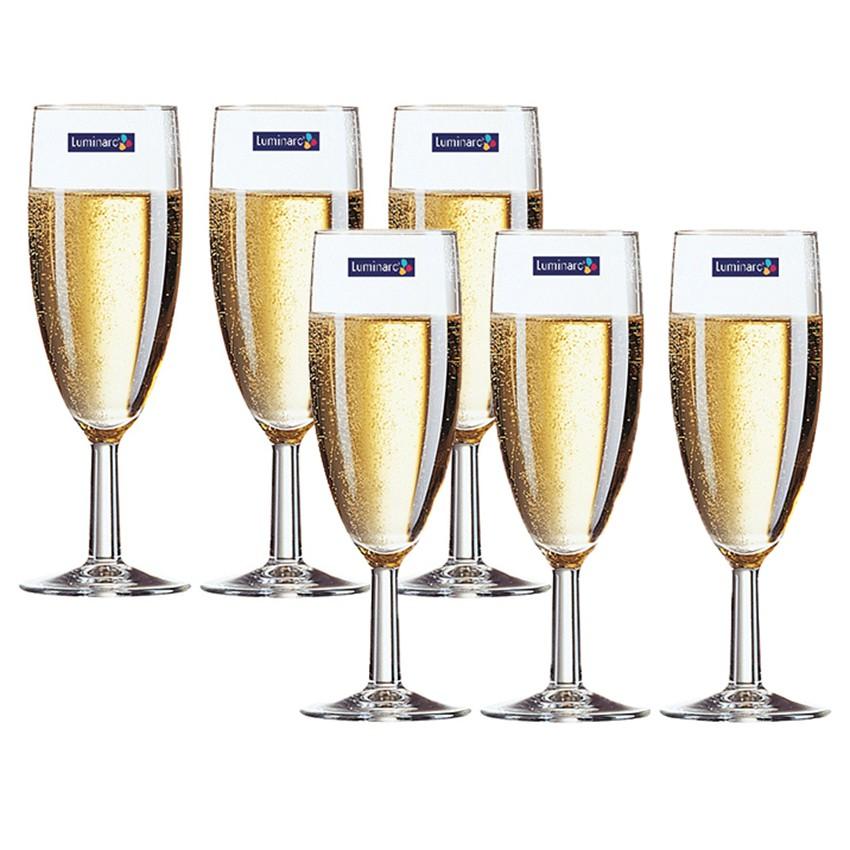 Bộ 6 ly rượu champagne TT Luminarc Savoie 170ml 11911