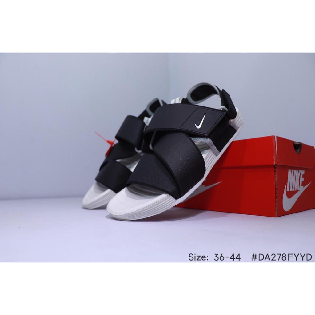 Giày xăng đan Nike air màu đen đế mềm thời trang mùa hè cá tính
