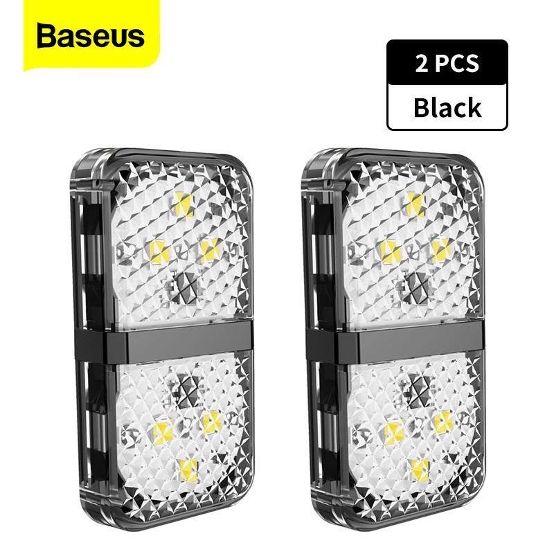 Set 2 Đèn LED BASEUS Dành Cho Xe Hơi Với 6 Bóng LED
