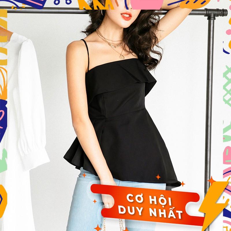Áo hai dây MIEU vạt xéo - FD06
