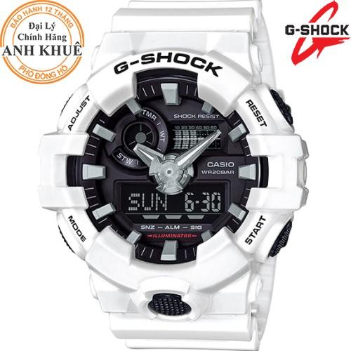 Đồng hồ nam dây nhựa G-SHOCK chính hãng Casio Anh Khuê GA-700-7ADR