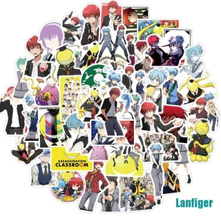 【Lanfiger】50Pcs Anime Assassination Classroom Stickers For DIY Skateboard Guitar Laptop