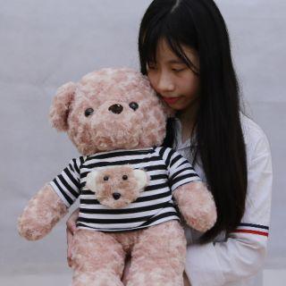 Gấu nhồi bông , gấu teddy áo kẻ dịu dàng đáng yêu kV 80 am