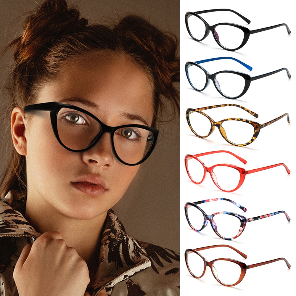PATH Fashion Blue Light Blocking Glasses Vintage Frame Goggles Computer Gaming Glasses Vision Care Anti Eyestrain UV400 Protection Women and...