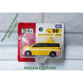 Tomica – Nissan Elgrand (hàng vĩ) (xe cảnh sát) (màu vàng)