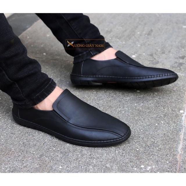 Giày da bò chính hãng X Shoes khâu đế