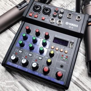Bộ Mixer Yamaha G4 USB - Bộ trộn âm thanh Mixer Chuyên Karaoke, Livestream, Thu Âm Cao Cấp - Tặng Kèm 2 Micro Không Dây