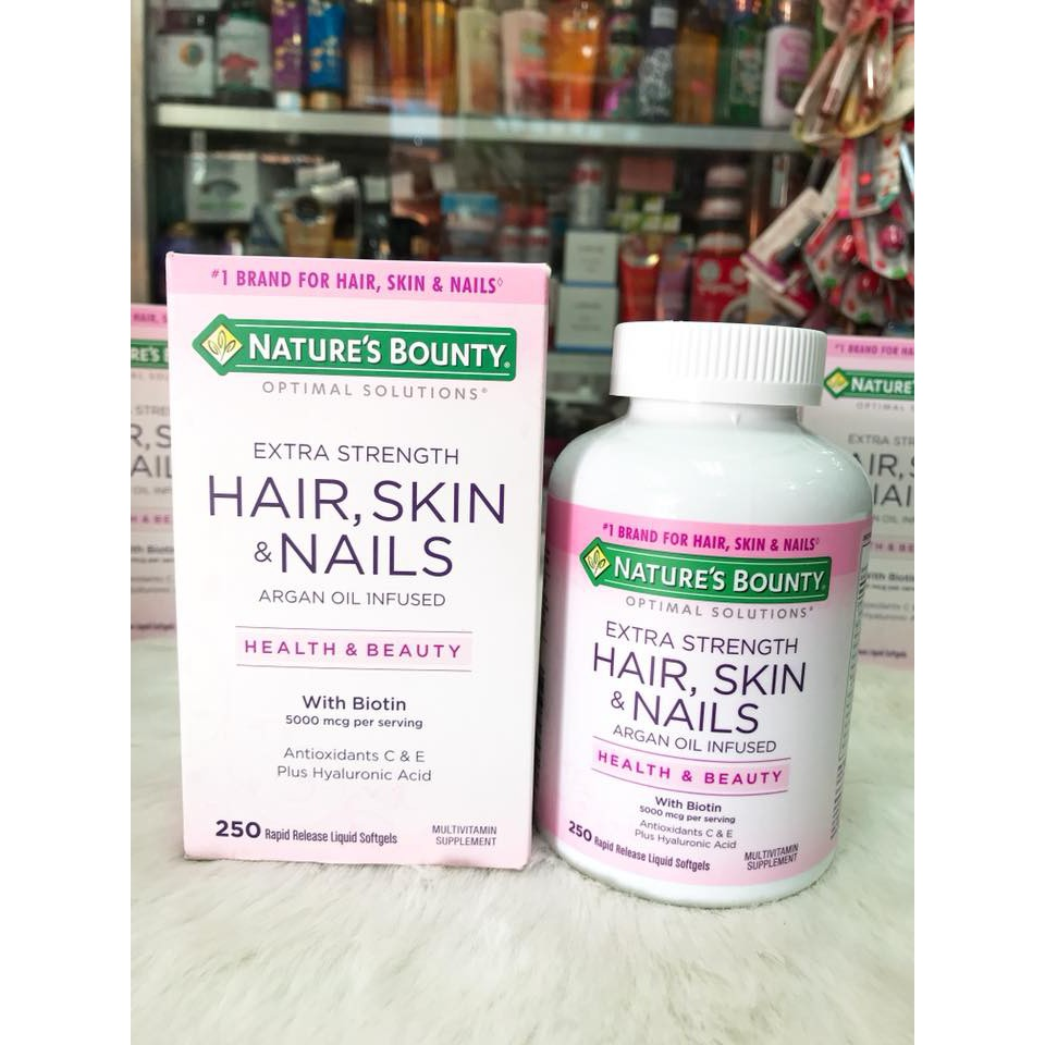 Viên uống đẹp da, tóc và móng – Nature's Bounty Hair Skin & Nail 250 viên - 3326438 , 600620929 , 322_600620929 , 680000 , Vien-uong-dep-da-toc-va-mong-Natures-Bounty-Hair-Skin-Nail-250-vien-322_600620929 , shopee.vn , Viên uống đẹp da, tóc và móng – Nature's Bounty Hair Skin & Nail 250 viên