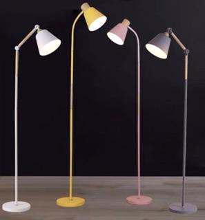 [ Tặng giỏ cây mini treo tường ] Đèn sàn đèn đứng sofa cao cấp style Hàn quốc – Tặng bóng chống cận 9w