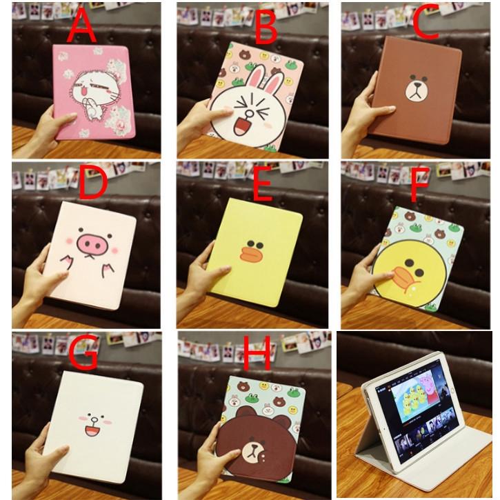 Bao da hoạ tiết động vật dễ thương cho Ipad mini 1/2/3/4/5 iPad 2/3/4 Air1/Air2 Ipad 9.7 Air3 10.5/Pro 10.5