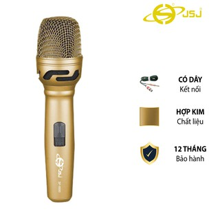 [Mã ELMS5 giảm 7% đơn 300k] Micro karaoke có dây cao cấp JSJ SF-9500 hoàn hảo từ mọi góc độ, thân kim loại được mạ vàng