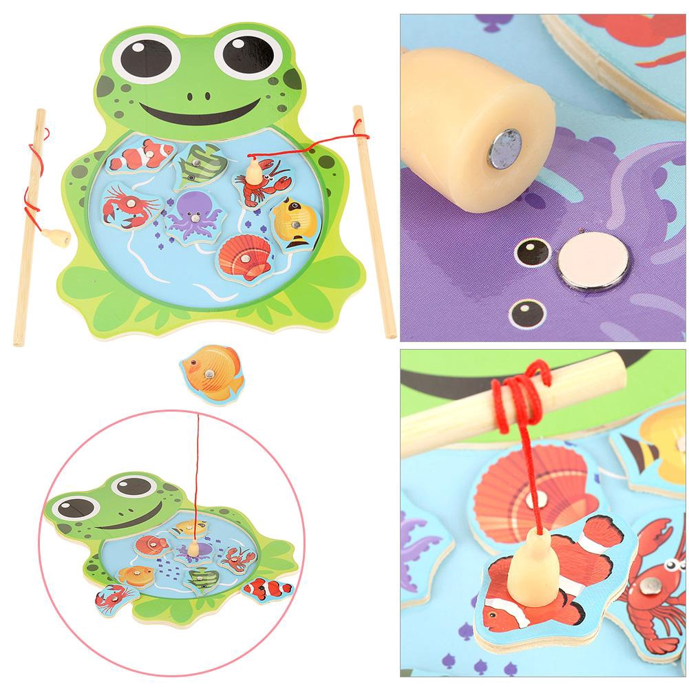Goonshopping Baby Wooden Magnetic Fishing Toys Jigsaw Puzzle Board Education Toy For Child CO