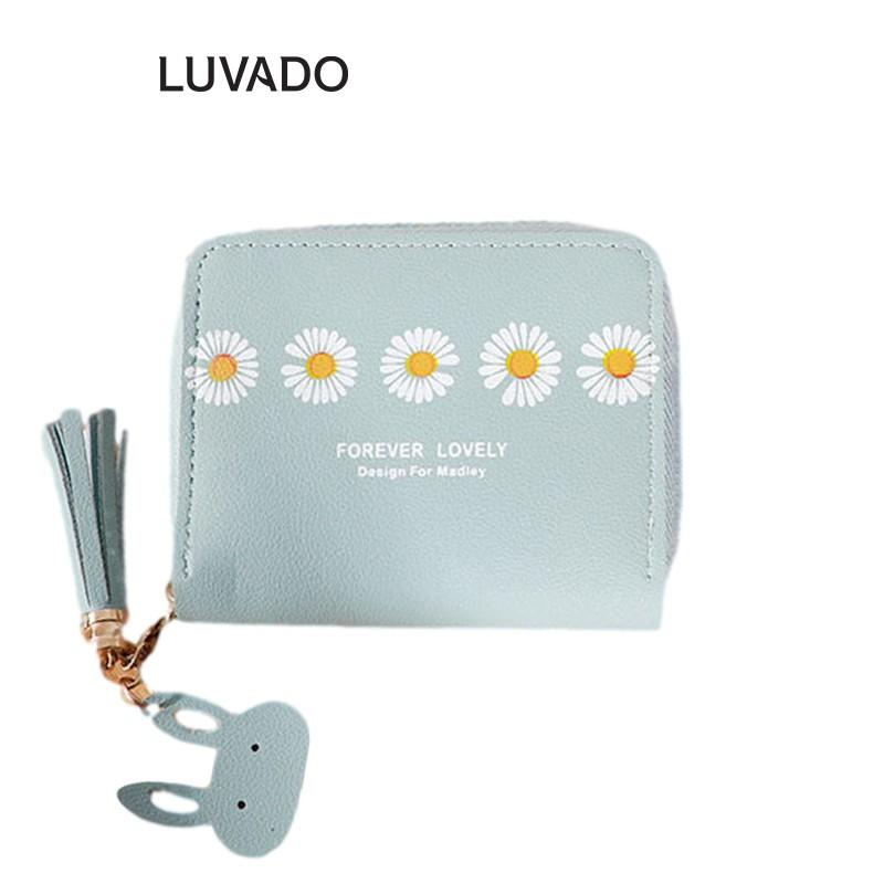 Ví nữ nhỏ gọn bỏ túi mini MADLEY cao cấp cầm tay đựng tiền cute LUVADO VD415