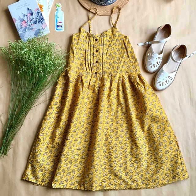 Váy babydoll hai dây vintage
