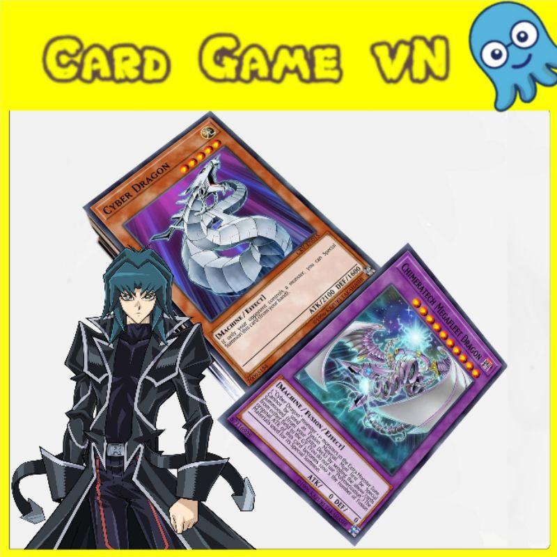 [BÀI IN] Bài YuGiOh – Bộ 54 lá bài trong Deck Cyber Dragon Ultimate – Card Game VN