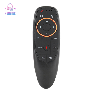 G10 Air Mouse Remote Control Voice Remote 2.4Ghz Google Voice Search Assistant Ir Learning Without Gyro For Android Tv Box Black Plastic