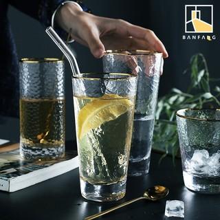 BANFANG Ly thuỷ tinh trong suốt đựng thức uống phong cách Nhật Bản sang trọng