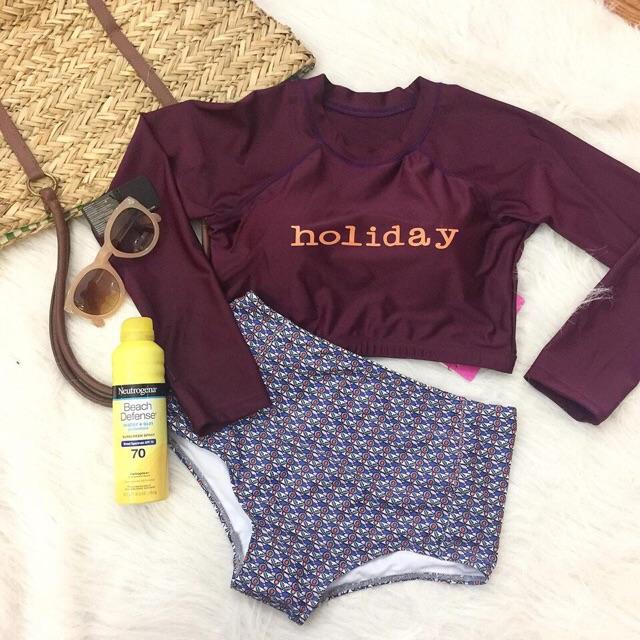 (Có sẵn, ảnh thật) Bikini đồ bơi dài tay phong cách Hàn quốc holiday - 3537351 , 995453241 , 322_995453241 , 320000 , Co-san-anh-that-Bikini-do-boi-dai-tay-phong-cach-Han-quoc-holiday-322_995453241 , shopee.vn , (Có sẵn, ảnh thật) Bikini đồ bơi dài tay phong cách Hàn quốc holiday