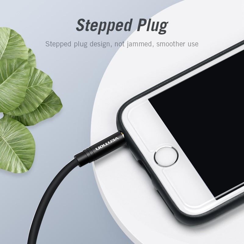 Vention Dây Cáp Chia Âm Thanh Từ Giắc Cắm 3.5mm Sang 2 Cổng Cắm 3.5mm Cho Iphone Laptop Mp3