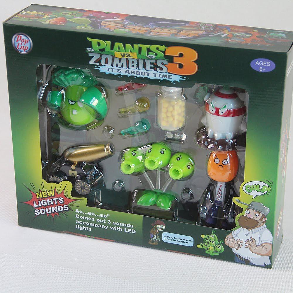 [Mã TOYFSSMAY giảm 10K đơn 50K] Bộ đồ chơi hoa quả nổi giận Plants & Zombie 3