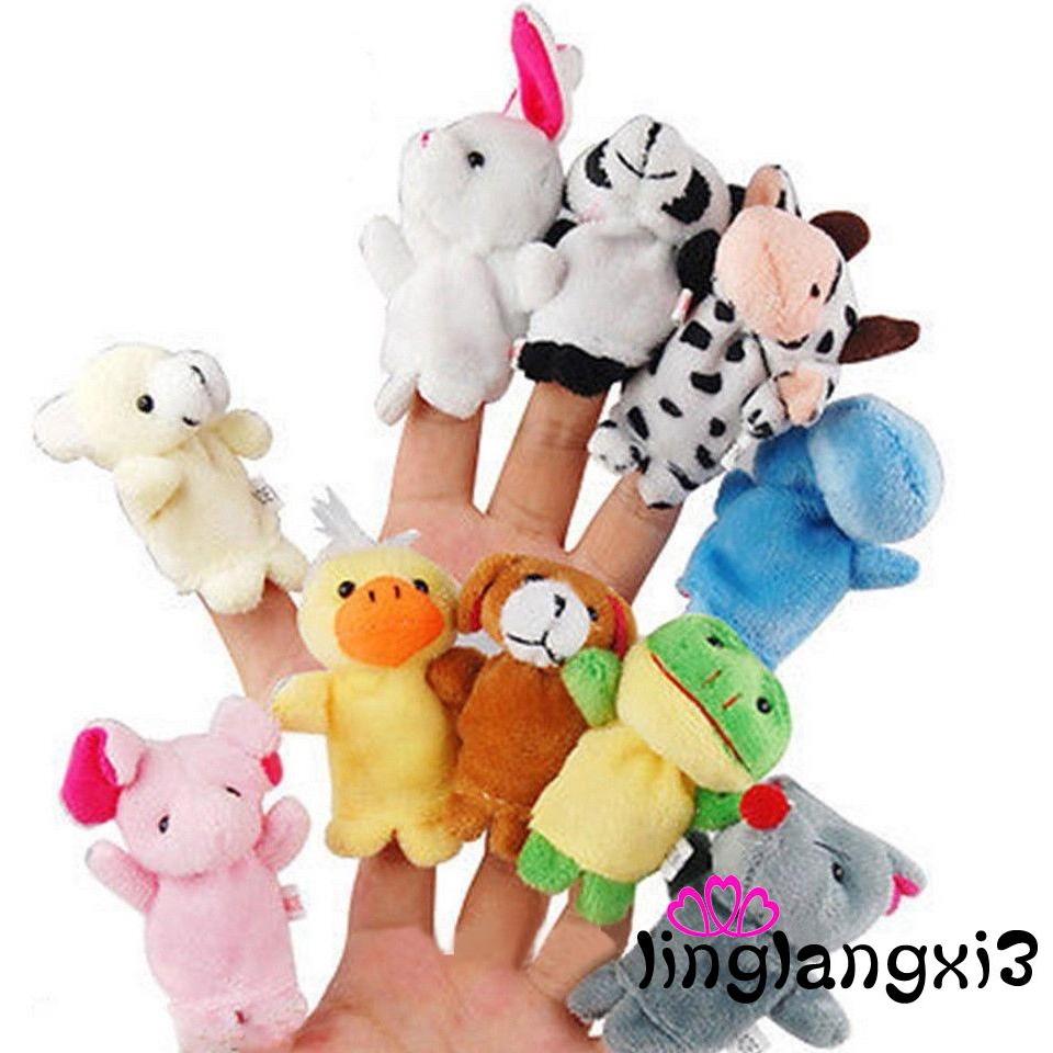 LVN-Boys Girls Babys Cartoon Animal Finger Puppets Toys Party Bag Filler Doll
