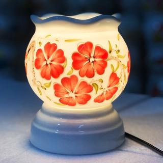 Đèn xông tinh dầu Bát Tràng size to cao 15cm 2