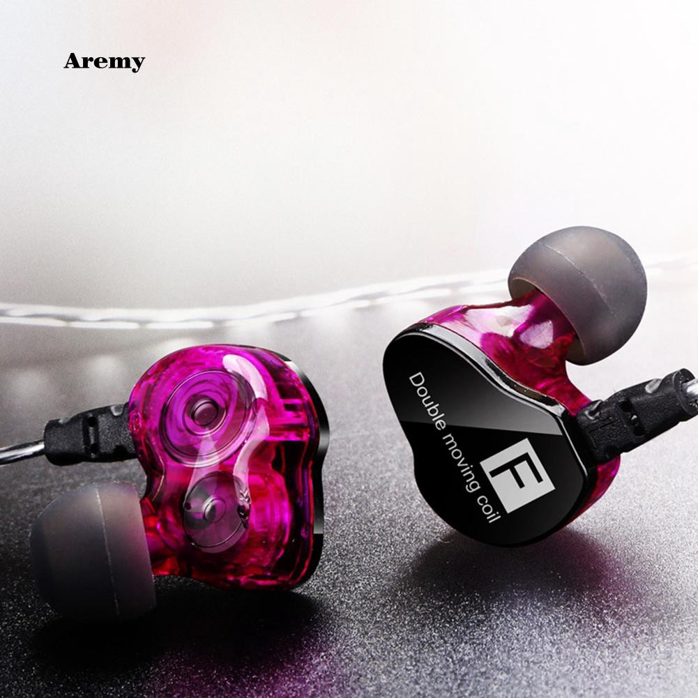 Dual Moving Coil Heavy Bass Stereo Music In-Ear Tai nghe Bluetooth Earphone Headset Earbud with Mic