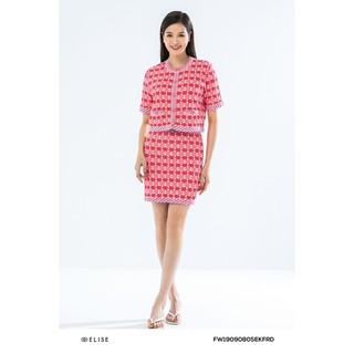 Bộ len đỏ họa tiết thiết kế Elise thumbnail