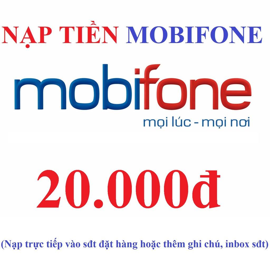 Mã thẻ cào 20k Mobifone