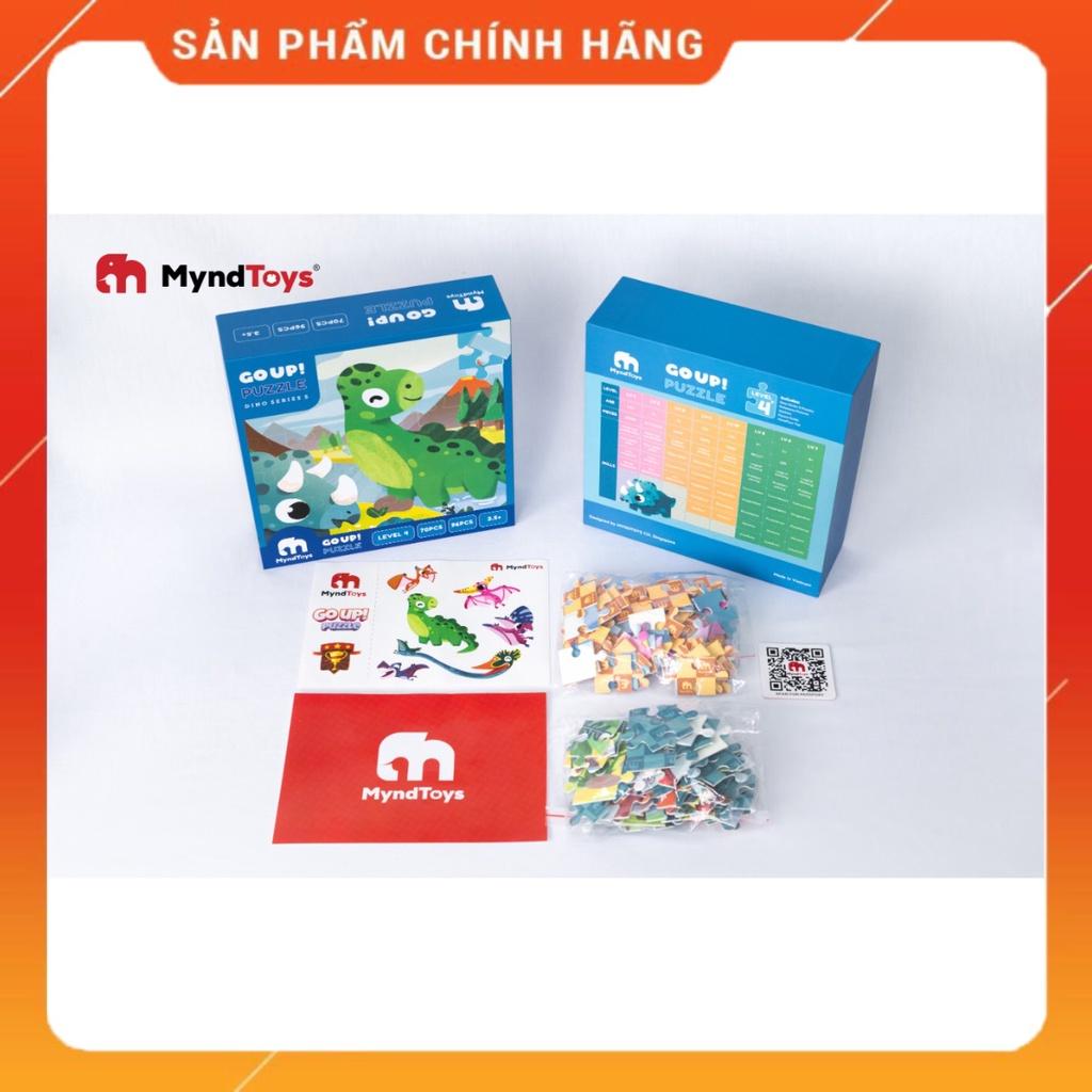 Đồ Chơi Xếp Hình MyndToys Go Up! Puzzle Level 4 – Dino Series S Dành Cho Bé 4+