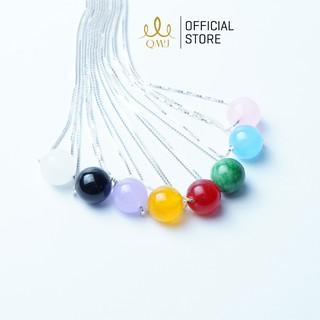 QMJ dây chuyền đá may mắn bạc lụa vuông phong thủy nhiều màu 925 cao cấp - Q434 thumbnail