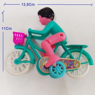 Đồ chơi mô hình xe đạp chạy cót, xe đạp mô hình