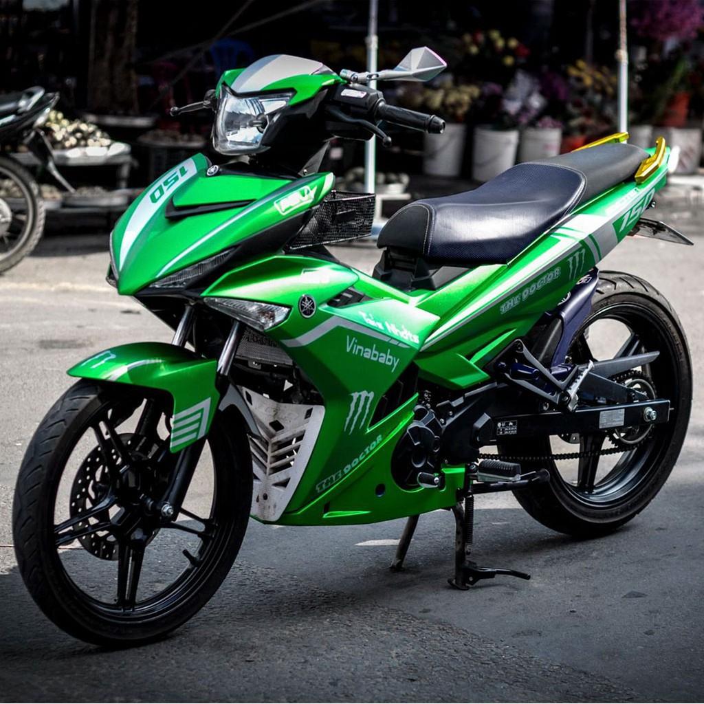 Mẫu Decal Tem Xe Exciter 150 Xanh Lá Cây Nhôm Xước [Shop Yêu Thích] | Shopee Việt Nam