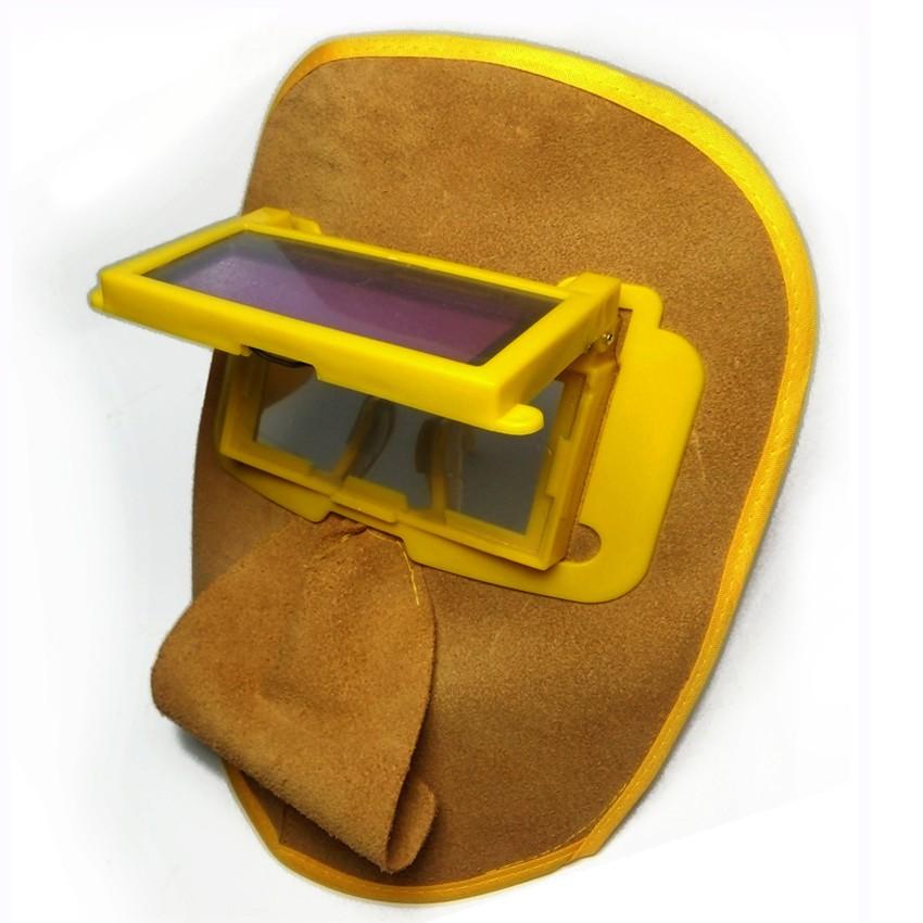Kính hàn điện tử mặt nạ da KH03 + Tặng dây đeo