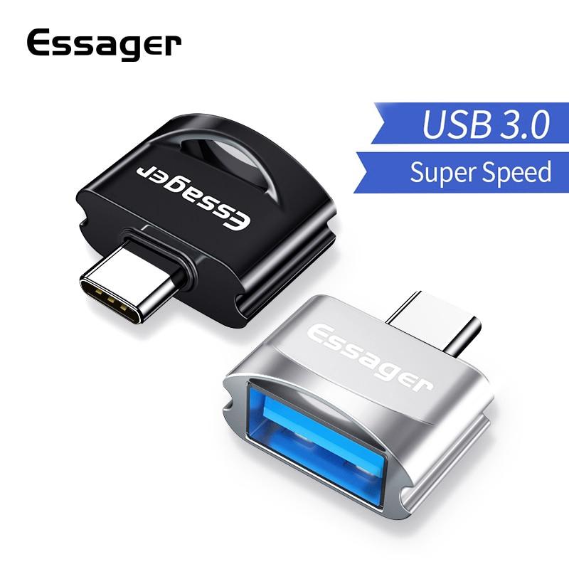 Đầu Cắm Essager Chuyển Đổi Usb Type-C Sang USB 3.0 OTG Cho Samsung Note 10 Xiaomi Redmi