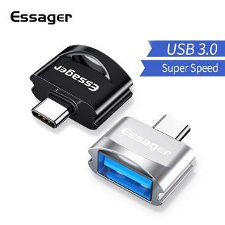 Đầu Cắm Essager Chuyển Đổi Usb Type-C Micro Sang USB 3.0 OTG Cho Samsung Note 10 Xiaomi Redmi