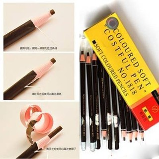 Hộp 12 cây chì kẻ chân mày Cosmetic Art Nhật Bản 10g thumbnail