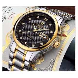 Đồng hồ nam ONTHEEDGE dây inox - Mặt đen, dây demi thumbnail