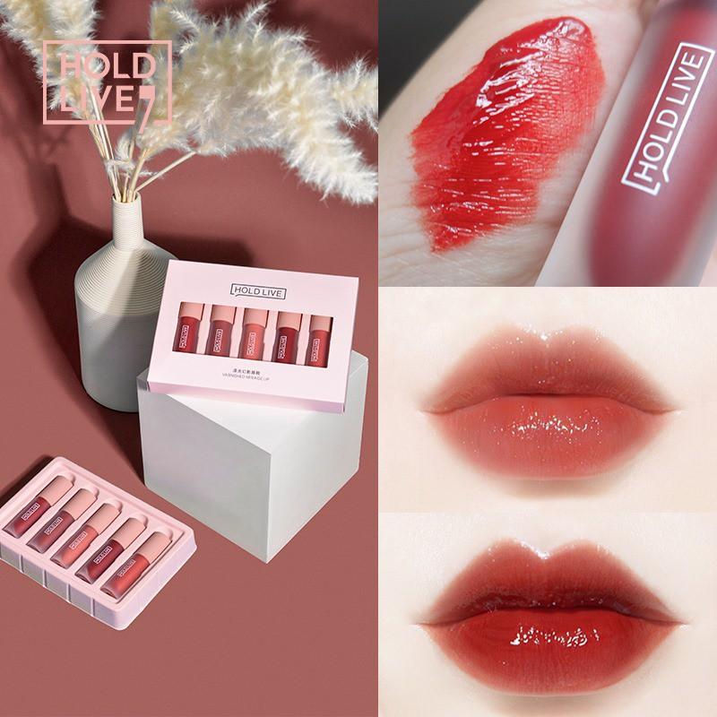 HOLD LIVE - Set 5 thỏi son kem bóng HoldLive Varnished Mirage Lip 2,5g x 5 HOLDLIVE