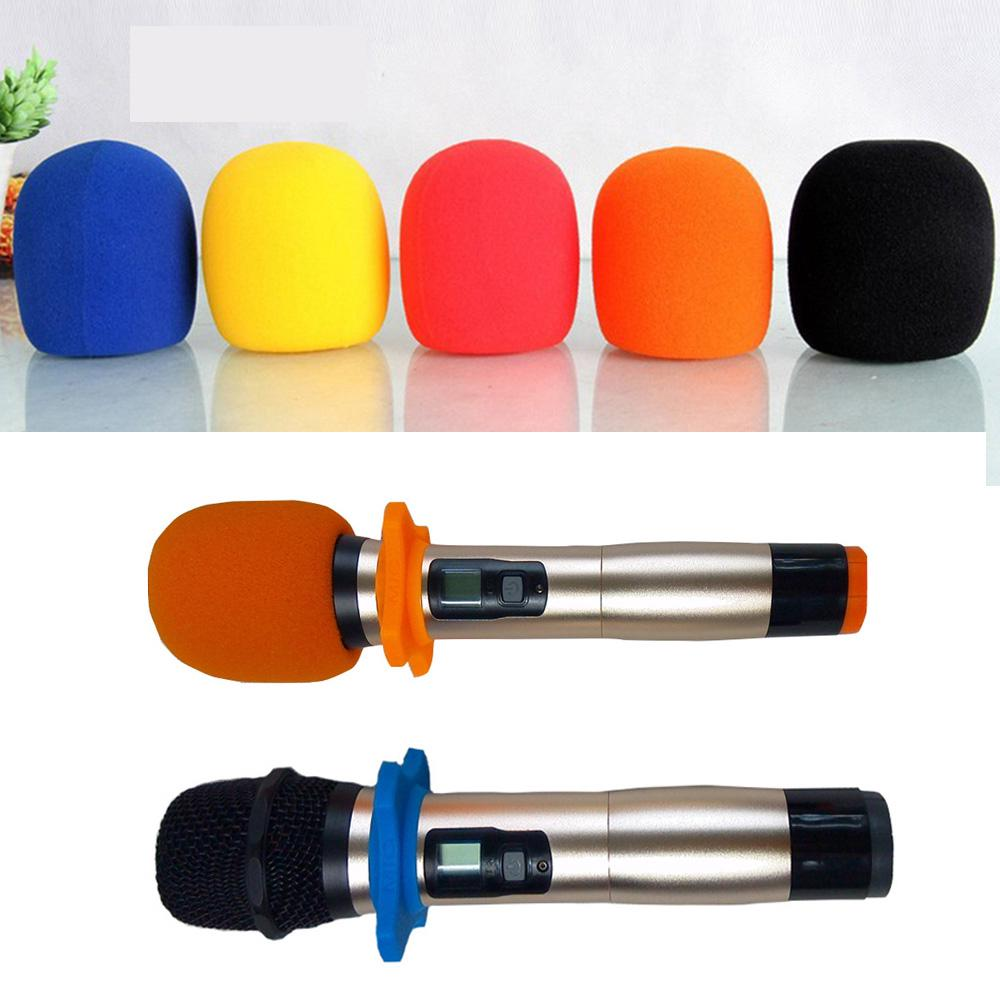 5x Colorful Microphone Cover Handheld Windscreen Foam Sponge Karaoke Mic