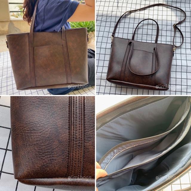 Túi Xách Tay Nữ Thời Trang FANCY BAGS - Đựng Laptop 15 - 16 inch - Túi Da Bản To LIMI BAGS