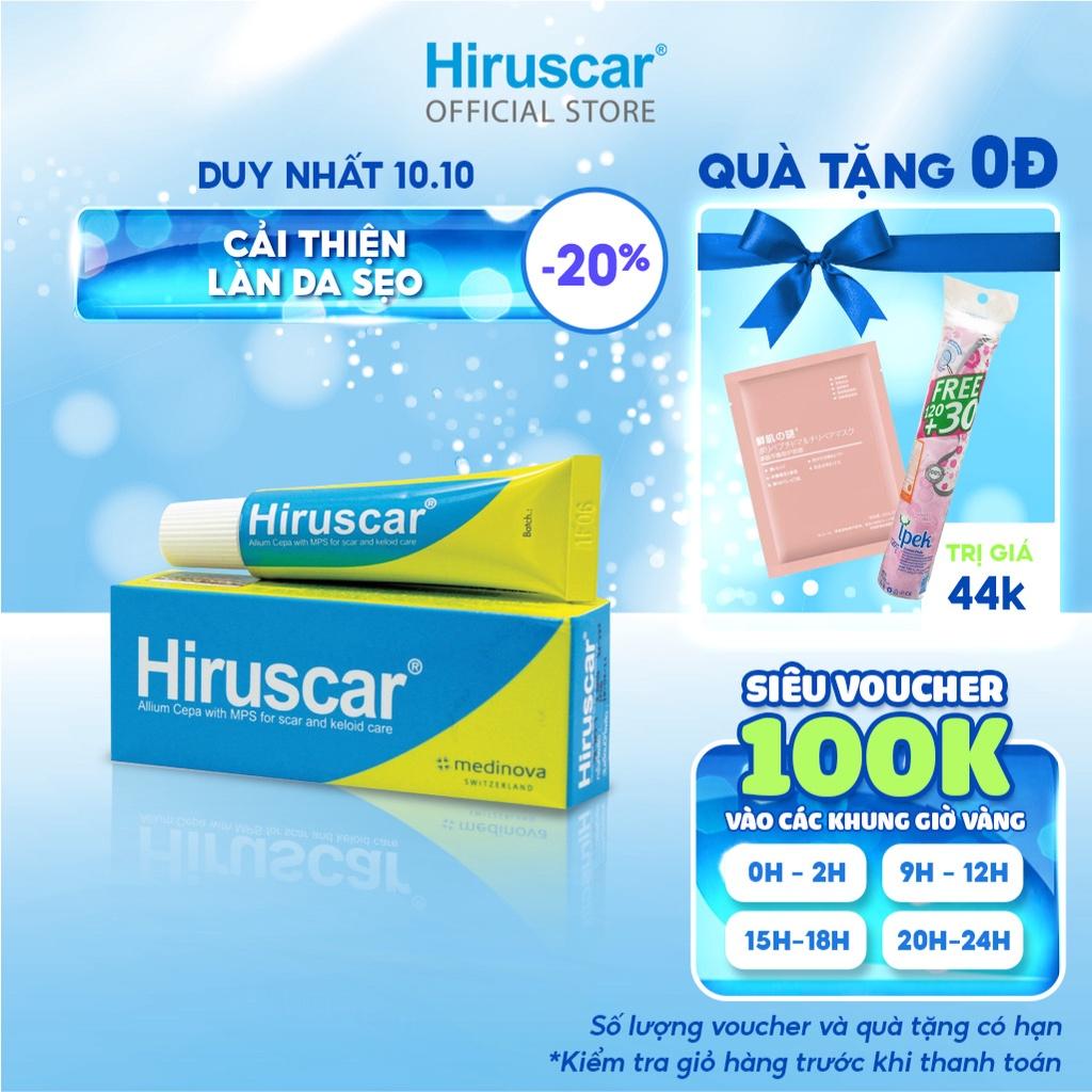 [Mã COSHIRU8 - 8% đơn 250K] Gel cải thiện sẹo vừa, sẹo lõm, sẹo thâm Hiruscar 5g