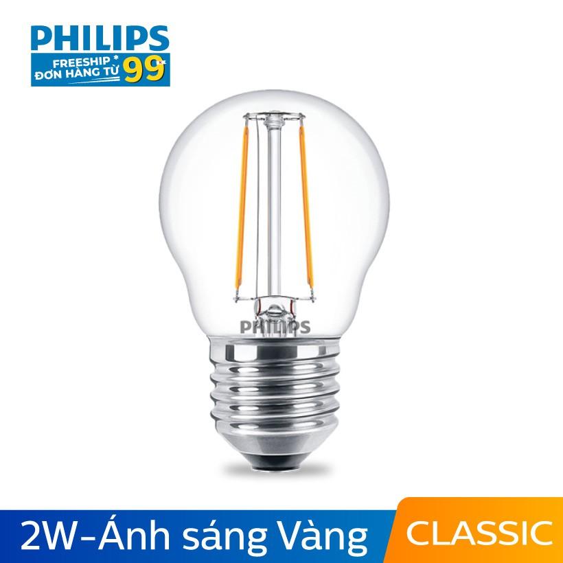 Bóng đèn Philips LED Classic 2W 2700K E27 P45 - Ánh sáng vàng