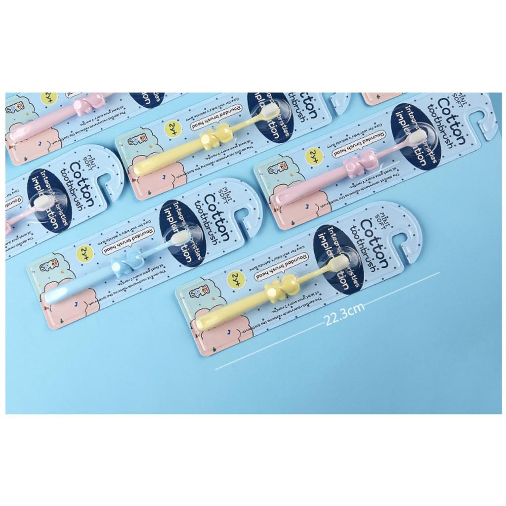Bàn Chải Đánh Răng Lông Mềm Cho Bé Trai Gái Siêu Mảnh Thiết Kế Hoạt Hình An Toàn Cho Bé 2 - 10 Tuổi