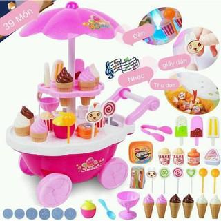 Bộ đồ chơi xe đẩy kem có phát nhạc cho bé
