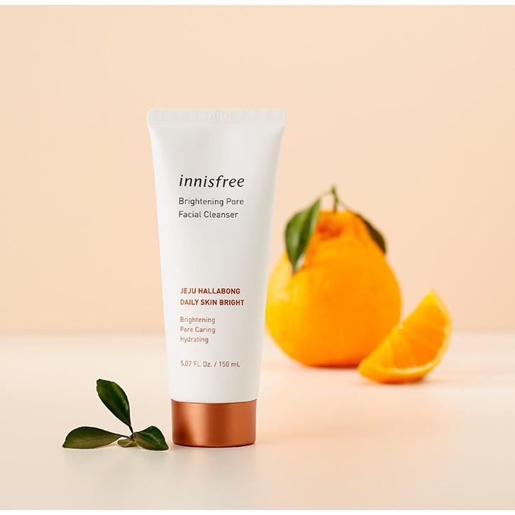 Sữa rửa mặt làm sáng da 3 trong 1 innisfree Brightening Pore Facial Cleanser 150ml