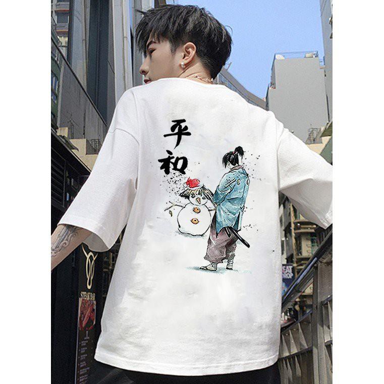 Áo thun unisex form rộng Nhật Bản đẹp độc lạ phong cách cá tính vải dày mịn 2019T2309