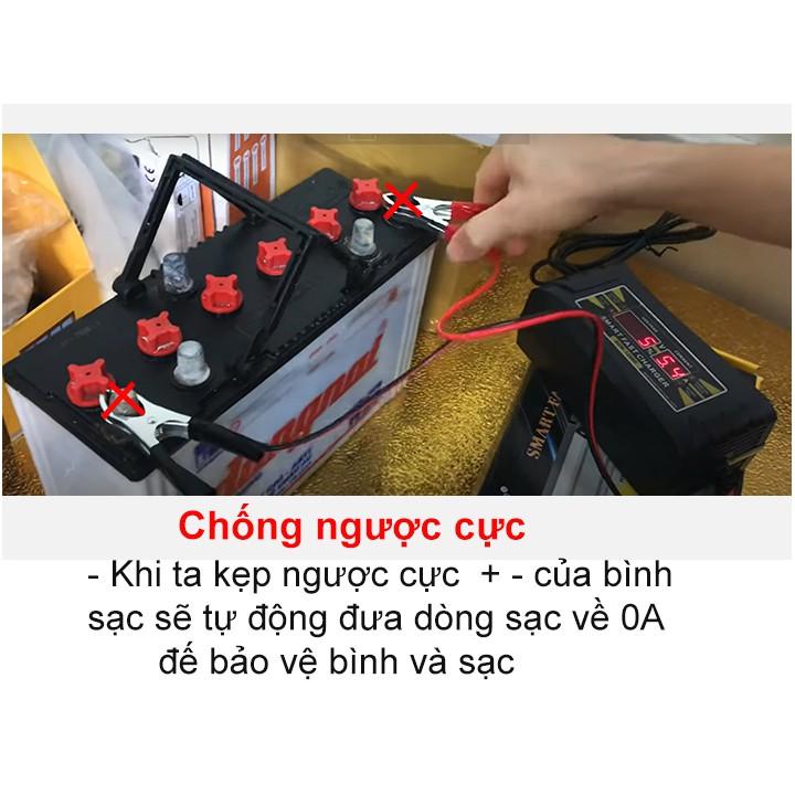 Sạc bình ắc quy 12v/10A sạ bình 20Ah đến 150Ah SUOER-1210D - máy sạc bình ắc quy